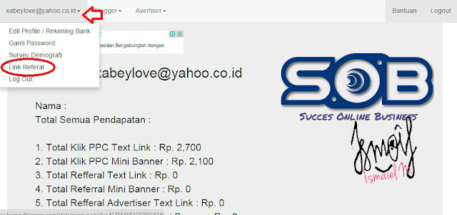 Referral link, kumpulblogger, PPC