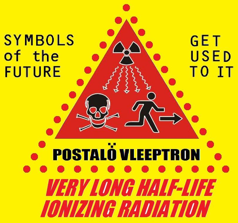 Vleeptronz 1st Day Issue Postalo Vleeptron Very Long Half Life