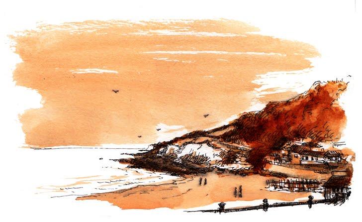 The beach at Ventnor