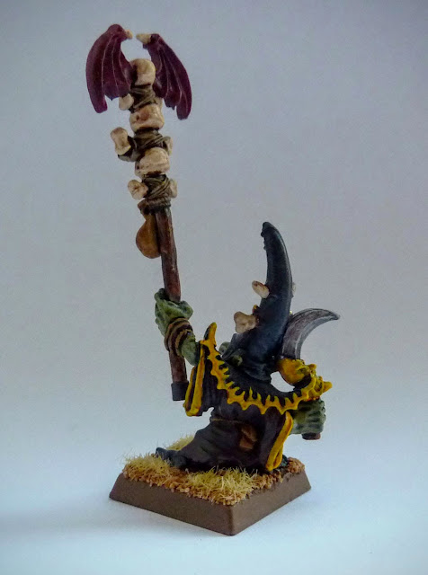 'Oddgit' night goblin shaman from the 'Idol of Gork' campaign pack.
