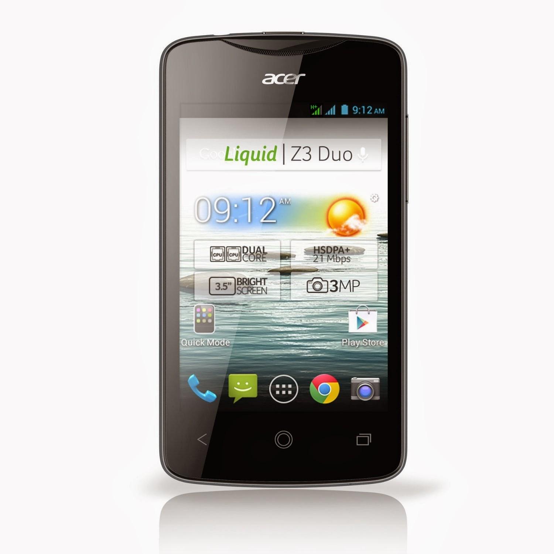 Smartphone Acer Liquid Z3 Duo Noir Comparatif