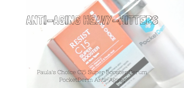 Paula's Choice C15 Super Booster Serum Review. PocketDerm Anti-Aging Review. Anti-Aging Must-Have Treatments in your late 20's and early 30's, 40's, 50's and beyond: Retinoids, Vitamin C Serums, Niacinamide Cocktails. Vitamin B3, Vitamin A, L-Ascorbic Acid, Ferulic Acid, Vitamin E, Tocopherol