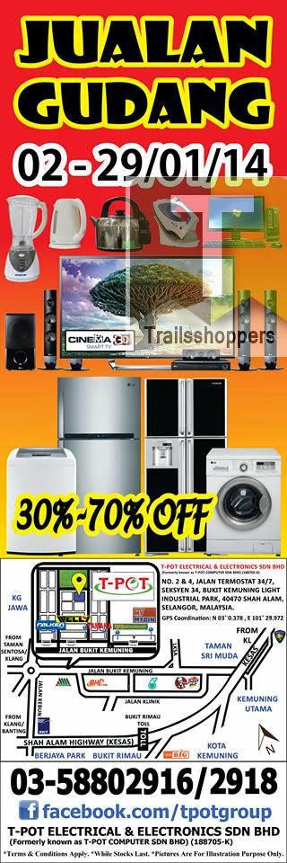 T-POT Korean Japan Electrical Appliances Warehouse Sale