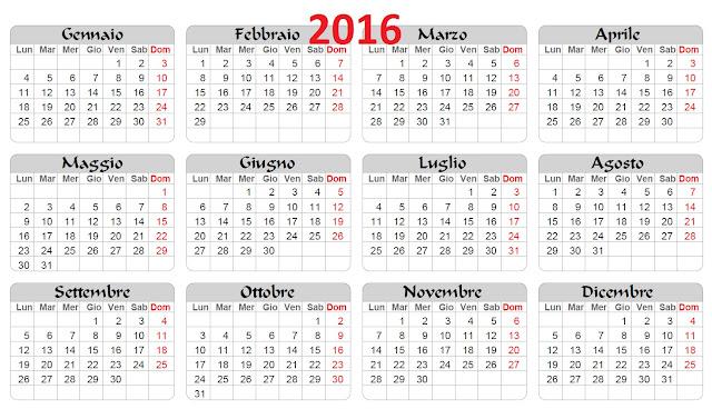 calendario scolastico 2015-2016 - scuola stampabile