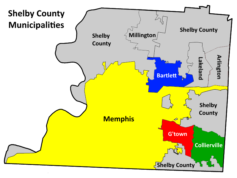Map Of Memphis Tn City Limits
