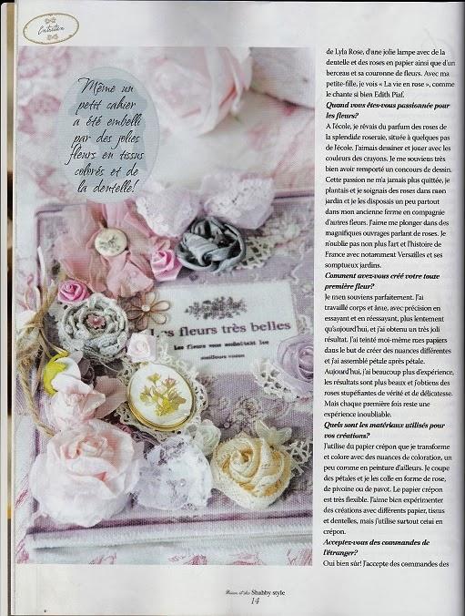 rozen van papier en dan de giveaway voor het franse magazine. Black Bedroom Furniture Sets. Home Design Ideas