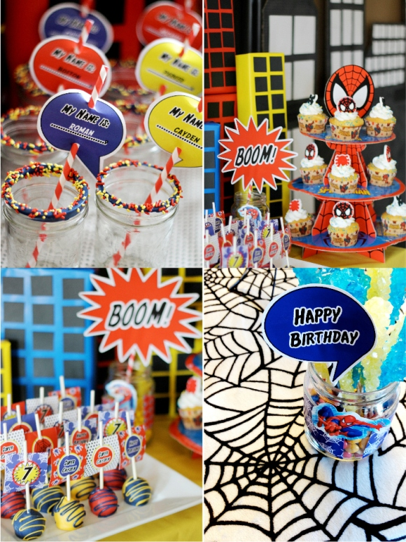 A SpiderMan Inspired 7th Birthday Party Party Ideas Party