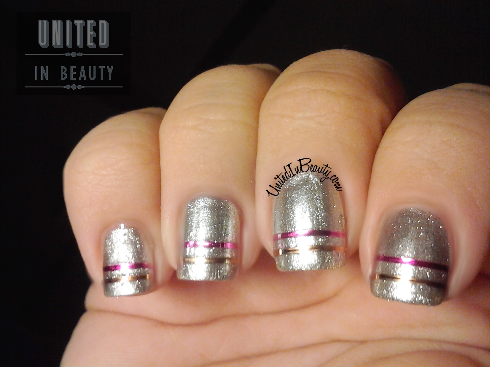 how to use metallic nail polish