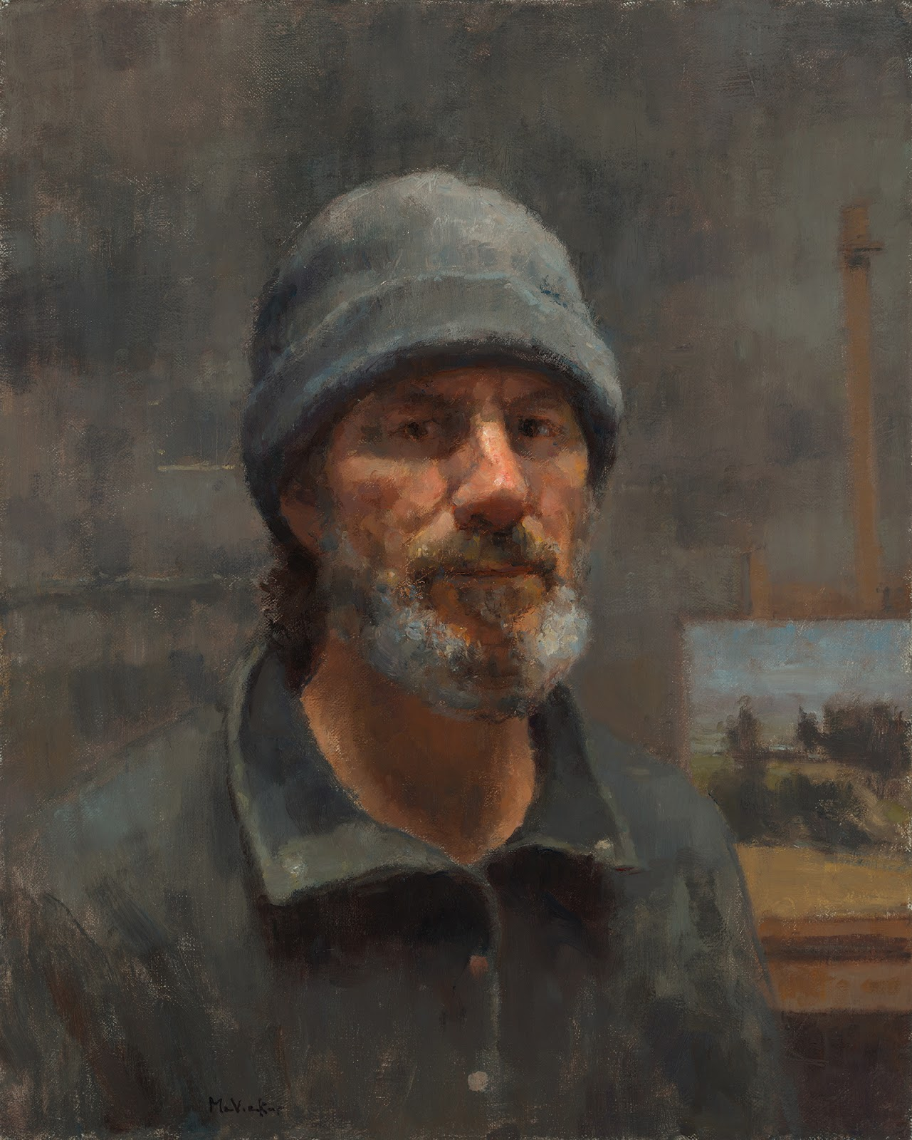 Jim McVicker Paintings: Self Portrait - December 2012