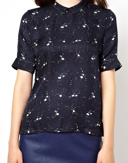 sessun navy blouse