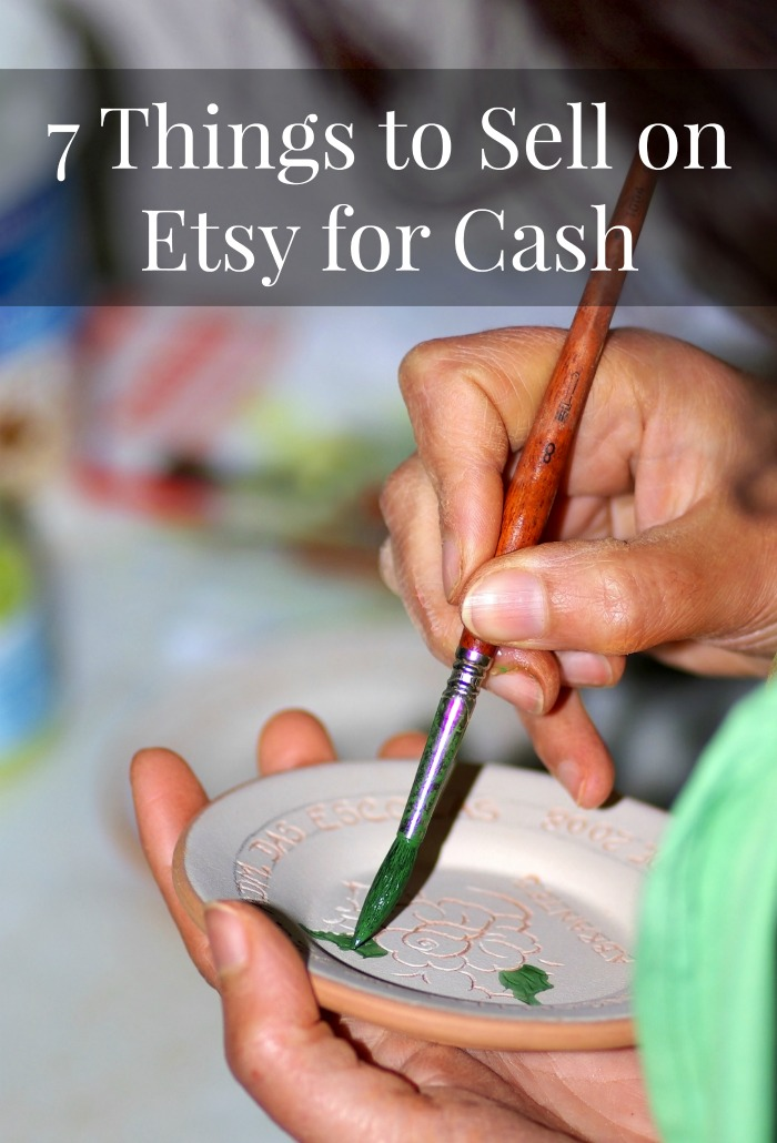 7 things to sell online and make money with etsy 1099 mom