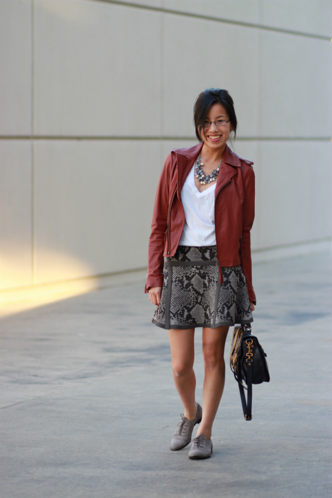 red leather jacket joie ailey