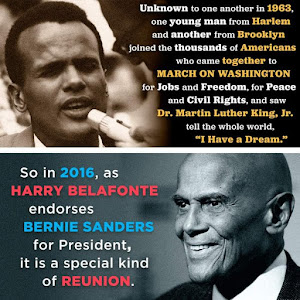 "<b><a href=""https://www.youtube.com/watch?v=NunNrElCRD"">Harry Belafonte for Bernie Sanders</a></b>!"