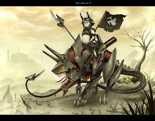 Mecha Spear Girl Beast Anime HD Wallpaper Desktop PC Background 1796