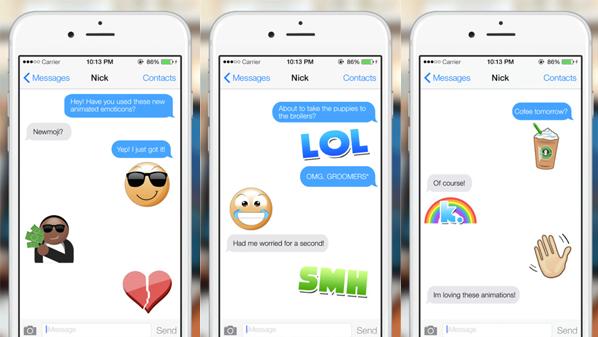 تطبيق لوحة المفاتيح وجوه تعبيرية متحركة Emoji الآيباد Newmoji