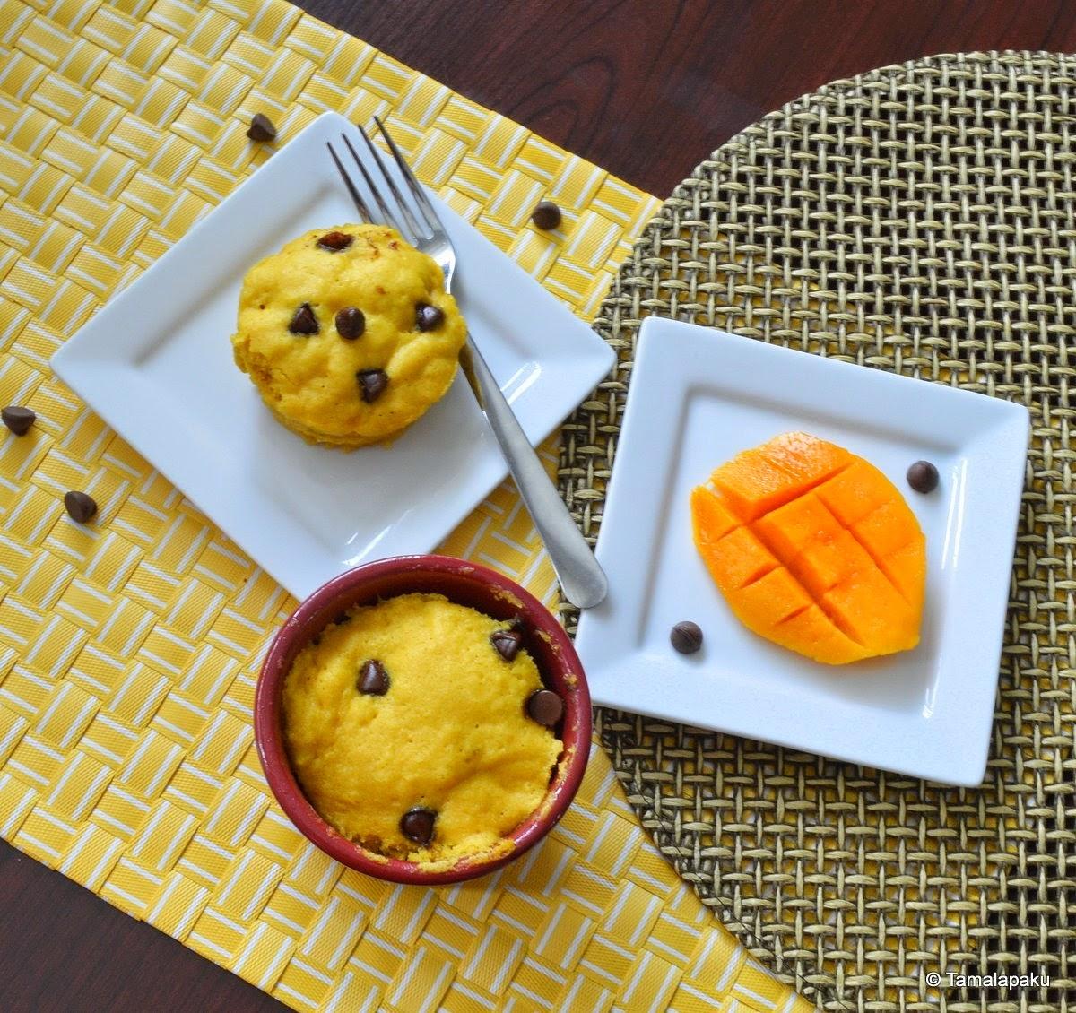 Eggless Mango Mug Cake