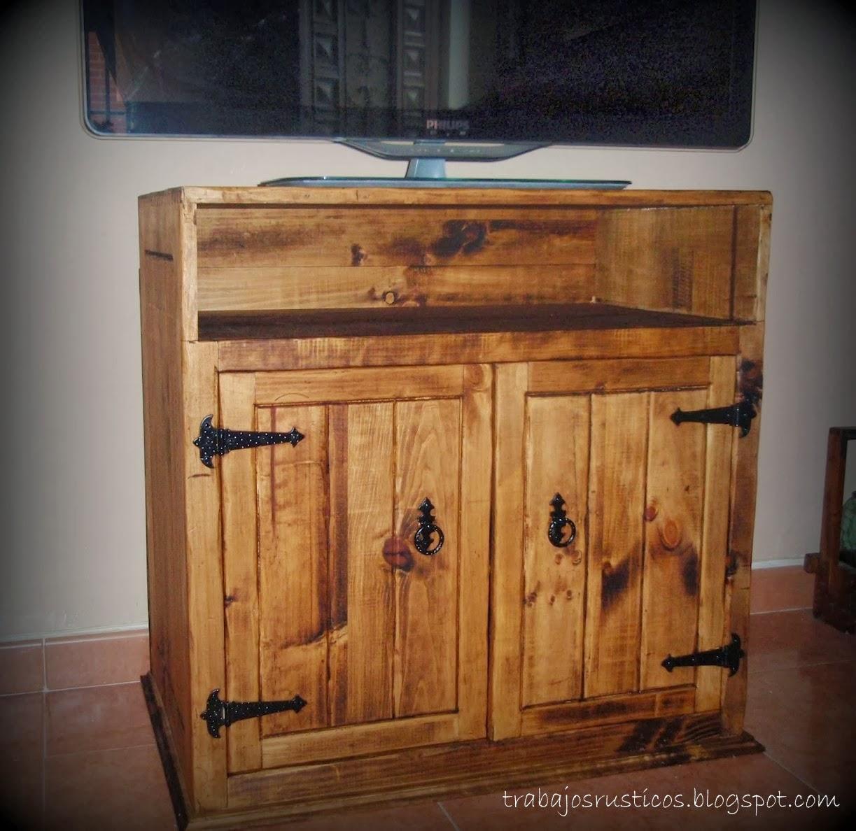 Trabajos r sticos mueble r stico televisi n - Mueble cocina rustico ...