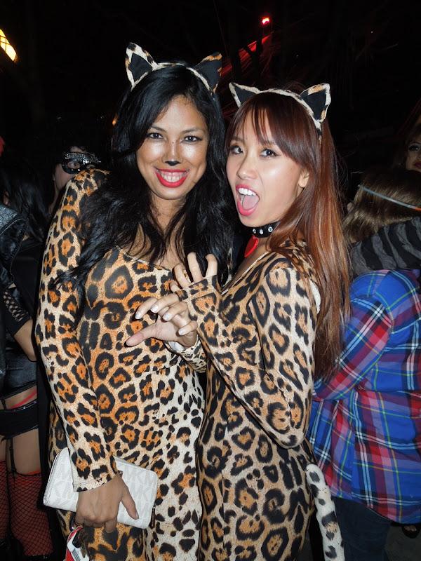 West Hollywood Halloween Carnaval leopard ladies
