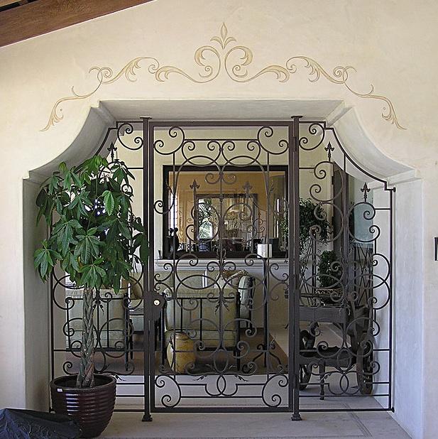 Tuscan style home bar