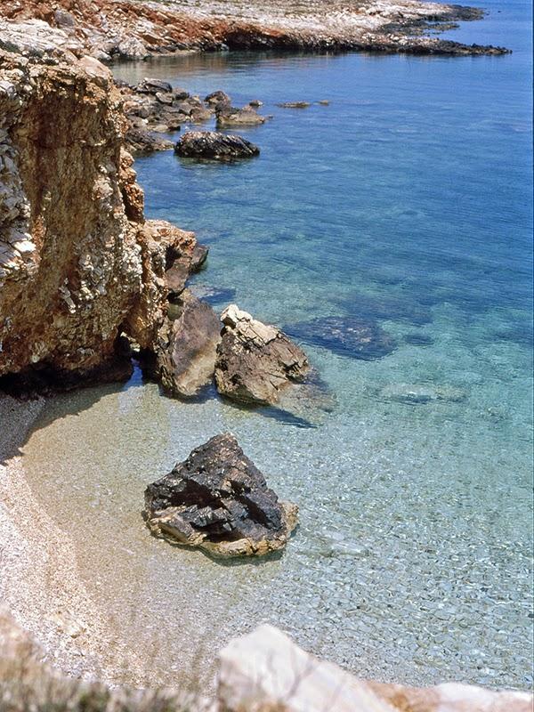Photo de plage sur l'île de Paros en Grèce
