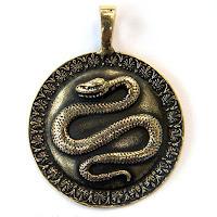 купить кулон из бронзы змей змея со змеей украина