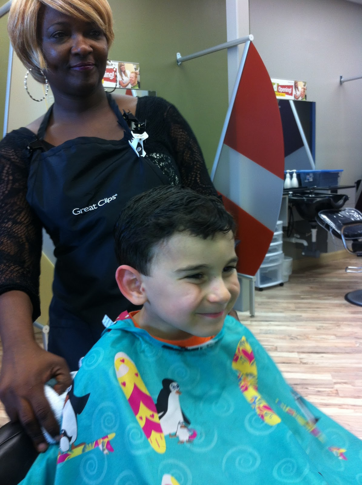 Austin Baby Mitch Falling For Haircuts