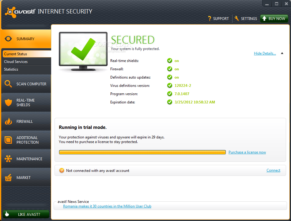 Avast 8 internet security activator 2050 year