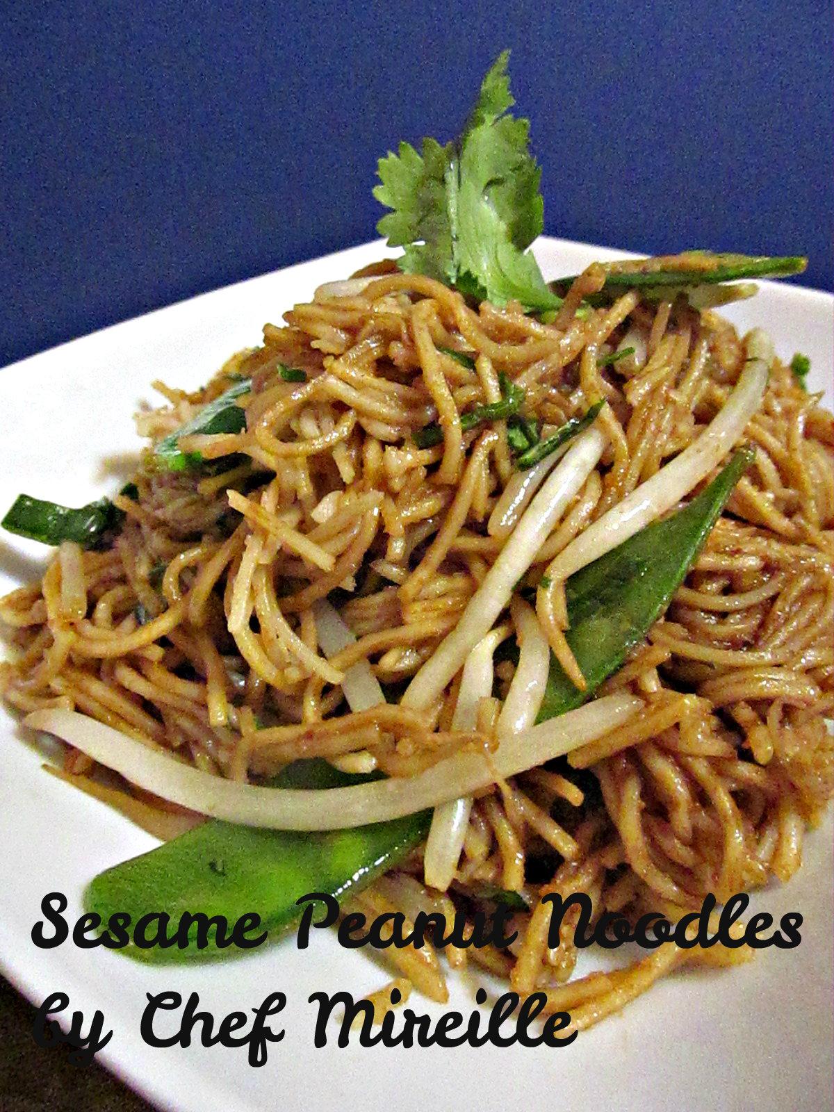 Sesame Peanut Noodles - The Schizo Chef