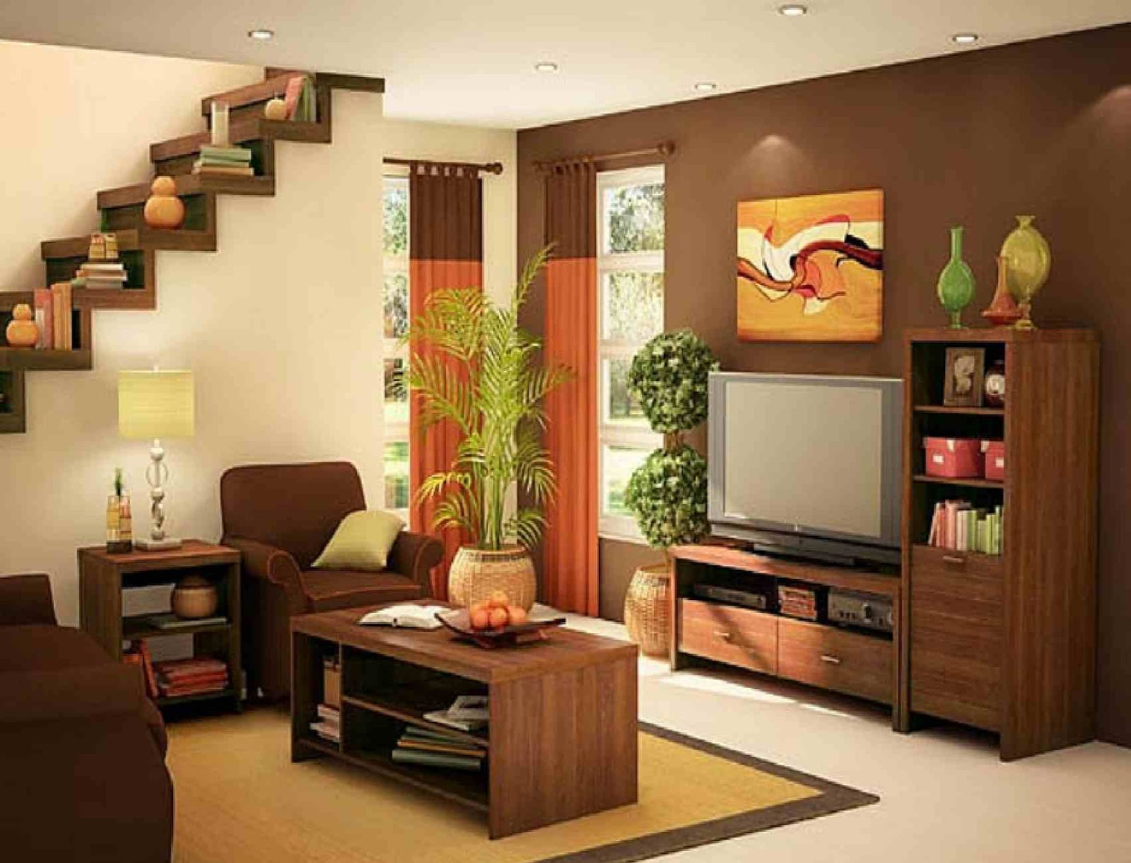 attractive simple living room design