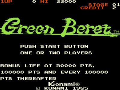 街機-綠色兵團+金手指作弊碼,滿載許多人小時候回憶的遊戲!