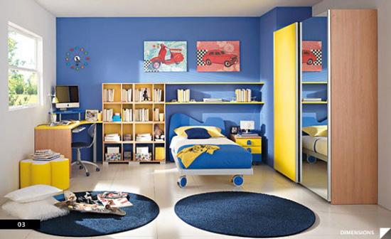 Desain Interior Kamar Anak Maskulin - Masculine Boys Bedroom