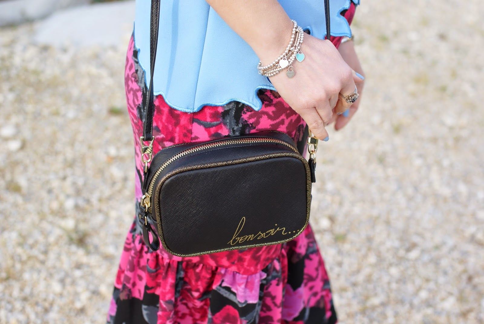 Zara bonsoir bag, Tiffany tiny bracelets, Fashion and Cookies, fashion blogger