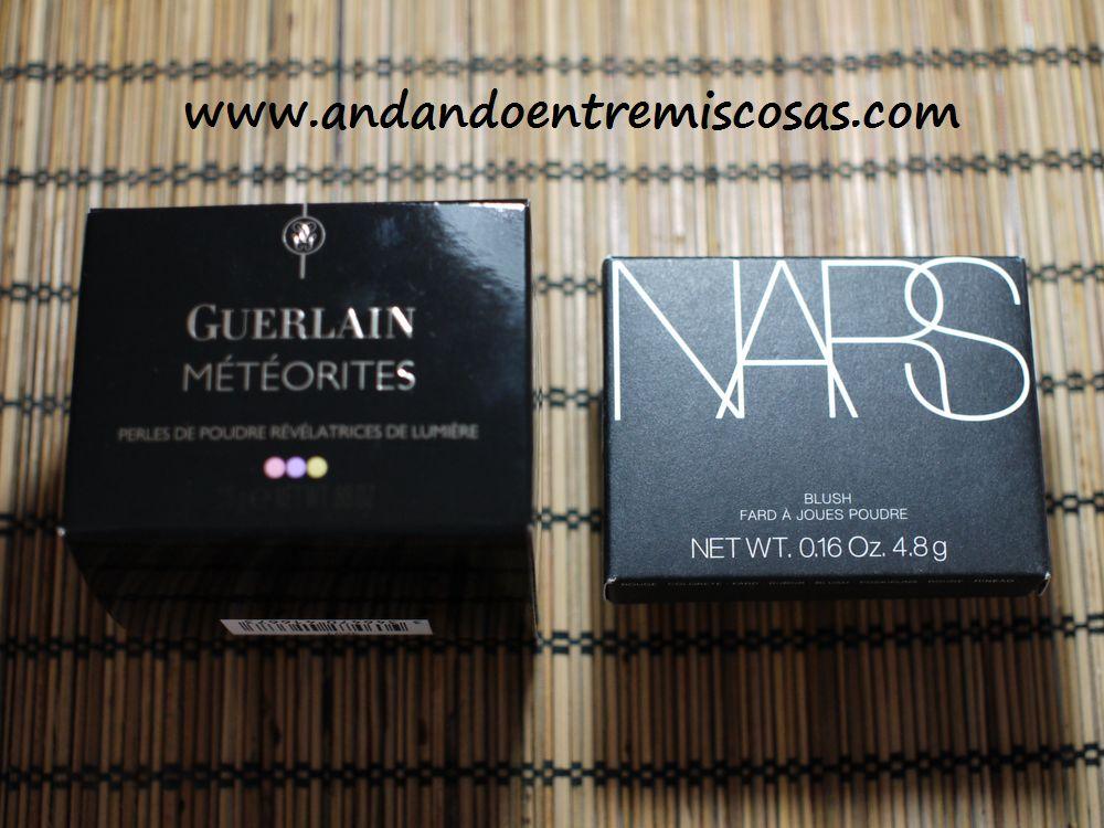 Meteoritos de Guerlain y colorete de Nars