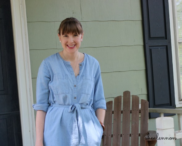 chambray dress styled for the weekend | www.shealennon.com