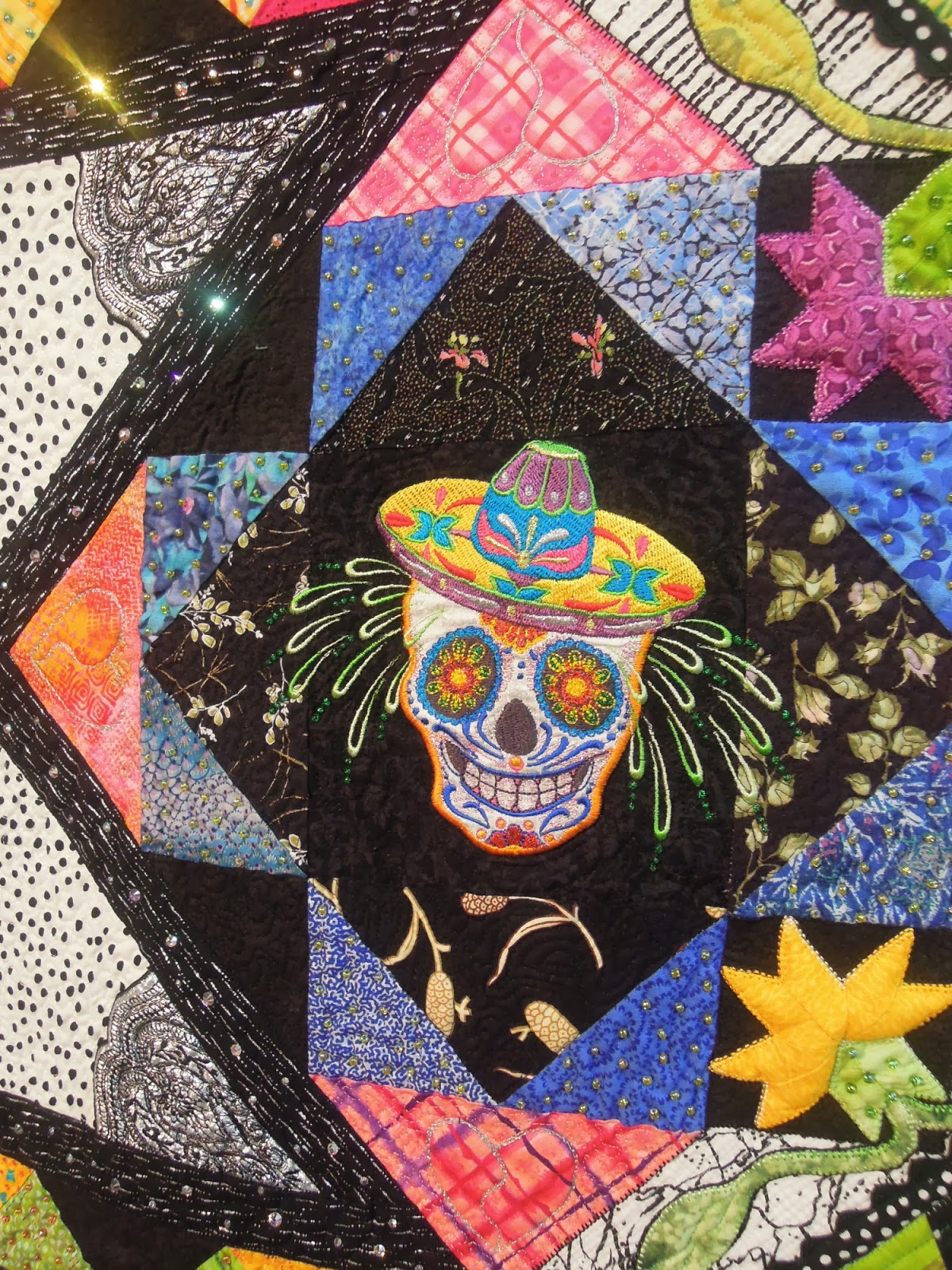 Quilt Inspiration: From Houston: Quilts that honor The Day of the Dead