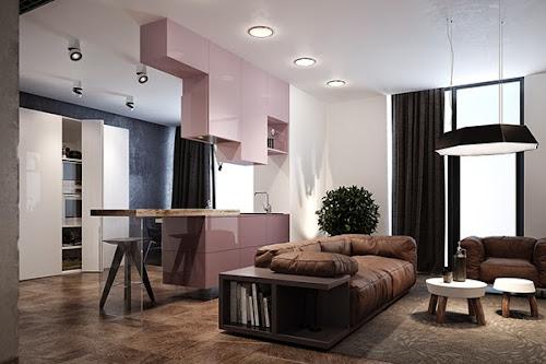 Pink: Minimalist Apartment in Kiev