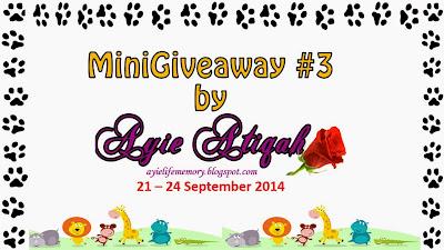 MiniGiveaway #3 by Ayie Atiqah