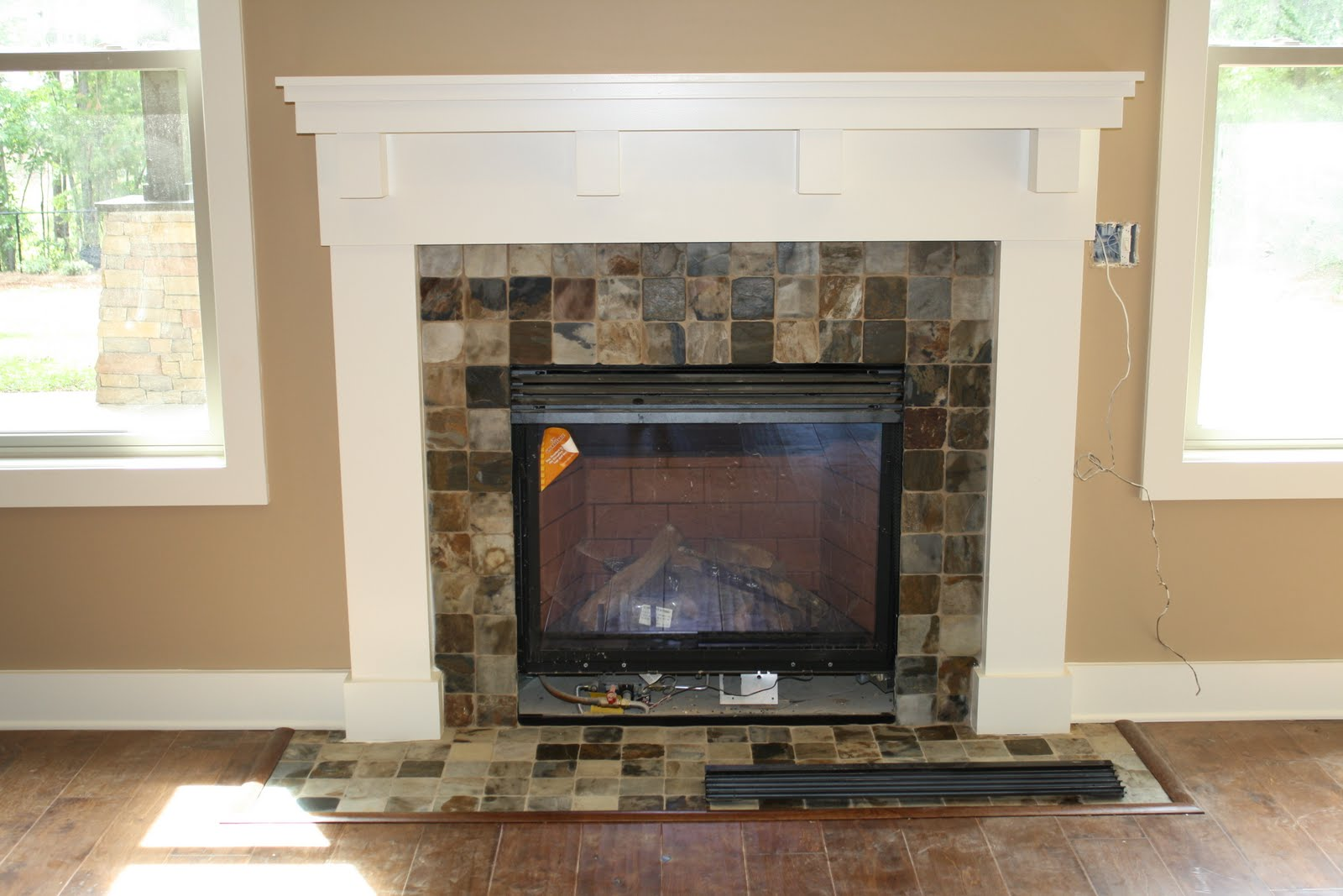 I married a tree hugger built in fireplace inspiration for Craftsman fireplaces photos