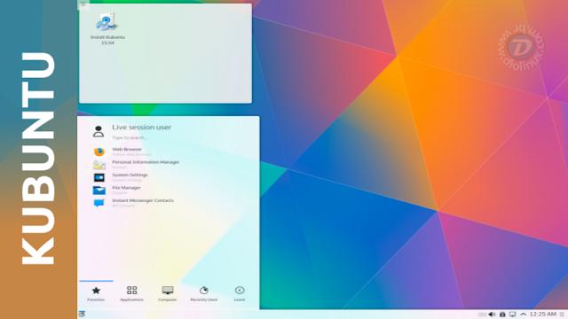 Kubuntu 15.10 com atualização no KDE Plasma