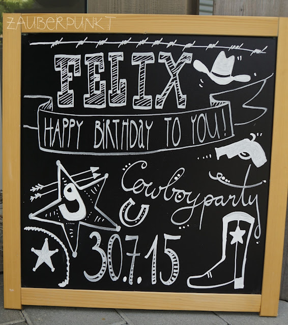 Cowboyparty 9. Geburtstag - Chalkboard