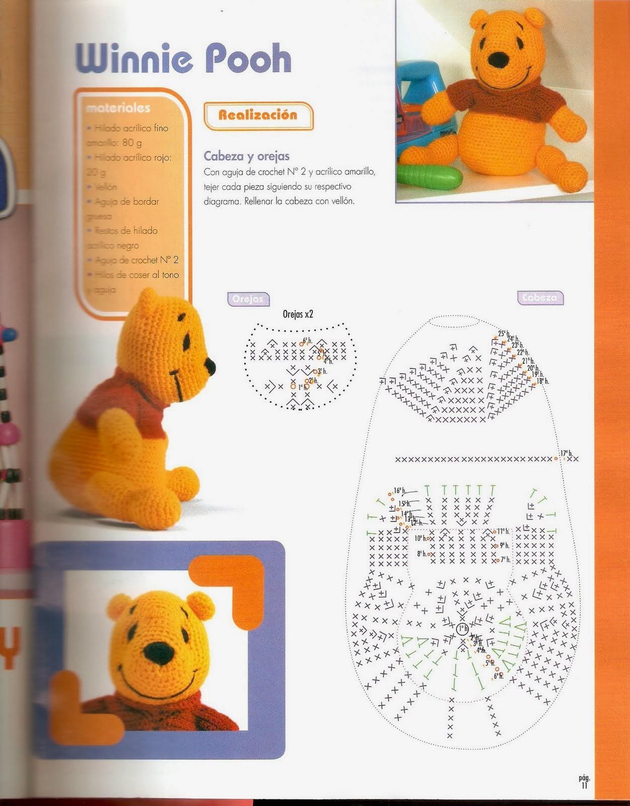 Haciendo a Winnie Pooh en Castellano (Amigurumi) ~ Crochet para Ti