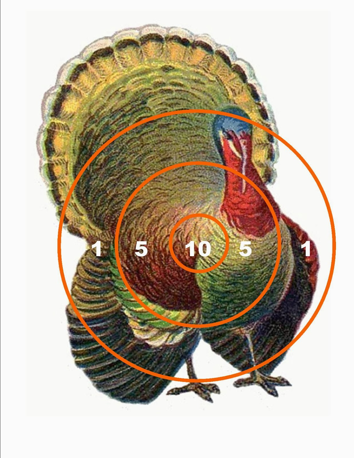 It's just an image of Delicate Free Printable Turkey Shoot Targets