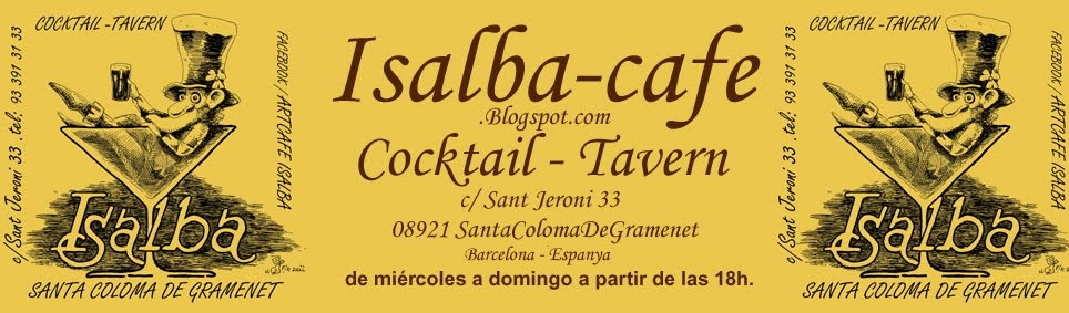 Isalba-cafe cerveza cocktail bar santa coloma de gramenet