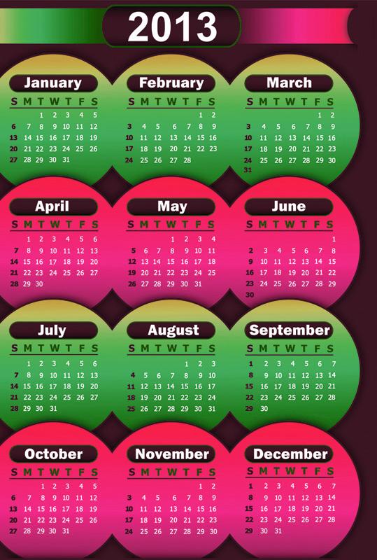 Klik pada gambar di atas unuk kalendar 2013 format .pdf dari laman web