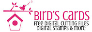Birds free digital stamps and cuts