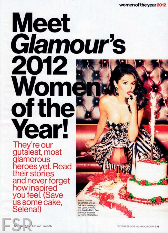 Hot Selena Gomez Glamour December 2012