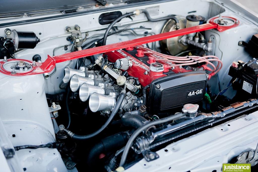 Hachi-Roku, sportowy samochód, JDM, Toyota, Corolla Levin, Sprinter Trueno, galeria, silnik, 4A-GE