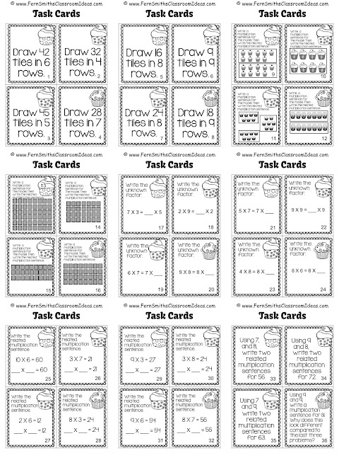 Fern Smith's Classroom Ideas Task Cards - Multiplication with 7, 8 and 9 a Color By Code Resource at TeachersPayTeachers.