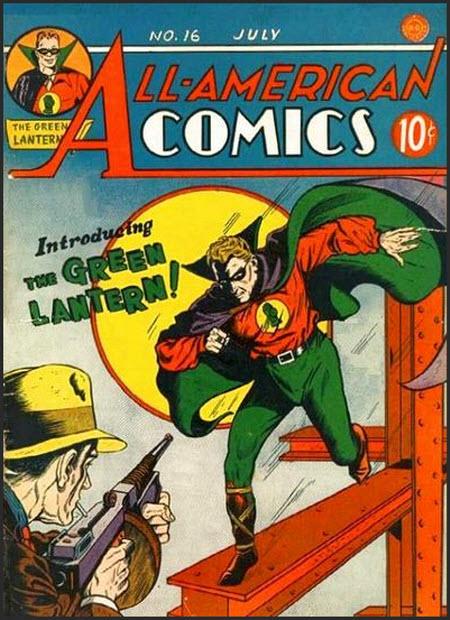 Tapa del primer comic de Linterna Verde
