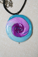Nautilus pendant - polymer clay :: All the Pretty Things